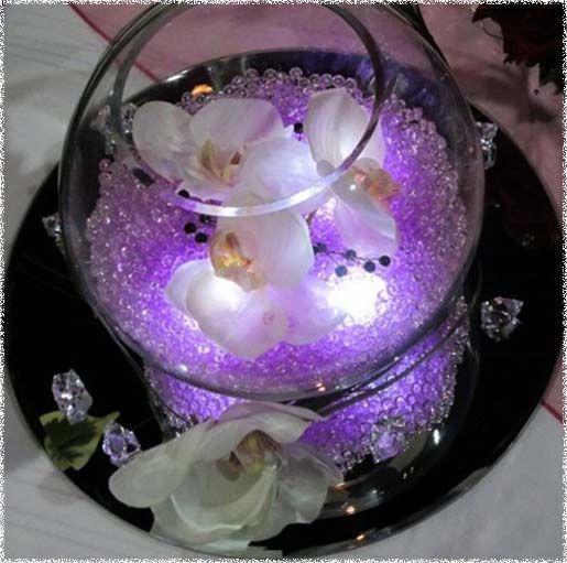 Diy purple wedding centerpieces decorations easy diy fish bowl diy purple wedding centerpieces decorations easy diy fish bowl centerpiece idea for a purple wedding junglespirit Image collections