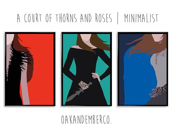 A Court Of Thorns And Roses Minimalist Poster A Court Of Wings And