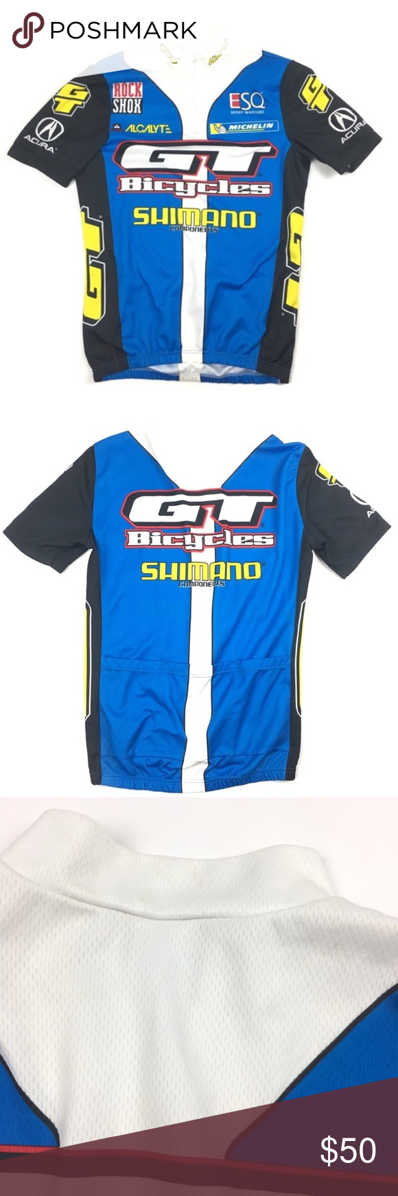 GT Shimano Cycling Jersey De Marchi Acura Bicycle Jersey is in good  pre-owned condition b7d1f4519