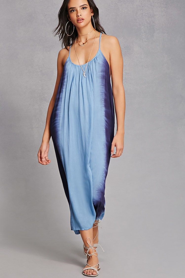 A woven maxi dress by boho meutrade featuring a tiedye wash side