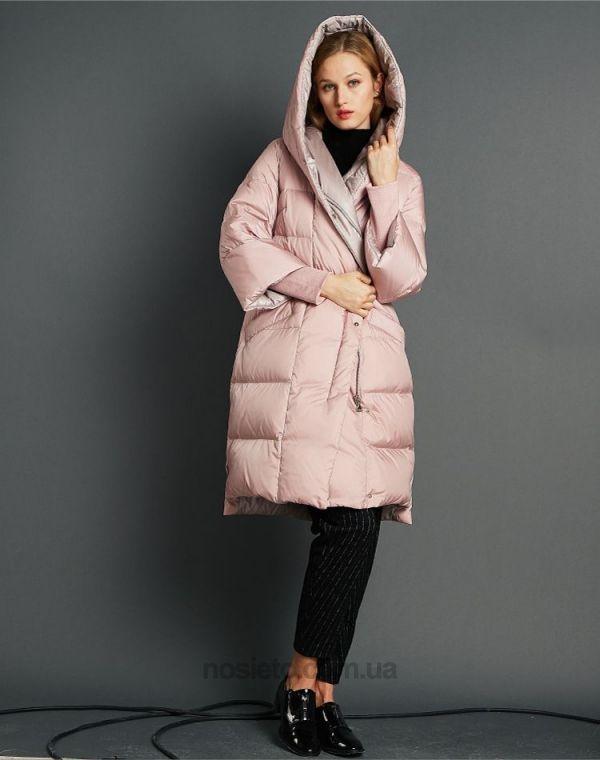 Шикарный пуховик пудрового цвета с эффектом перламутра   куртки ... 25e71ad9946