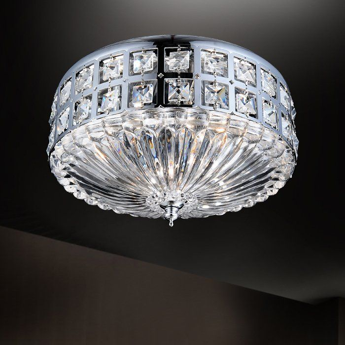 Shop Crystal World 5039C1 Crystal Flush Mount Ceiling
