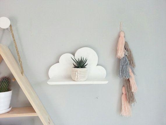wooden cloud shelf   Pour les petits   Regal wolke, Regal