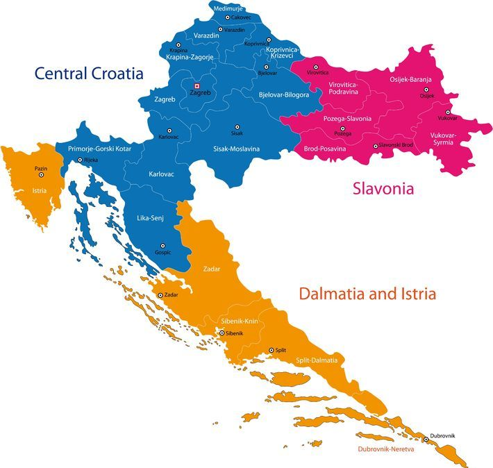 Croatia Map 5 Croatian Regions You Need to Know Before