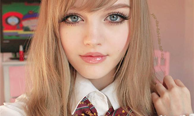 Doll makeup Anime hairstyles in real life, Dakota rose