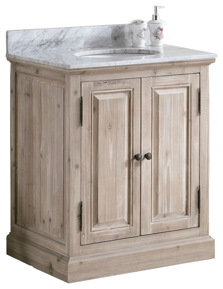 Barry SingleSink Bathroom Vanity With Carrara White