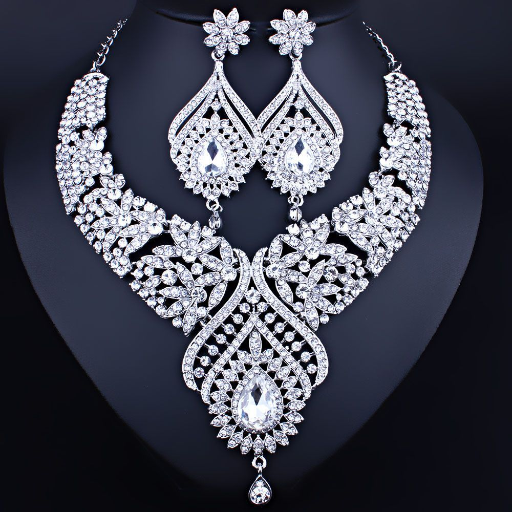 25cd0e0545042 Necklace and earrings jewelry set at Bling Brides Bouquet- Online ...