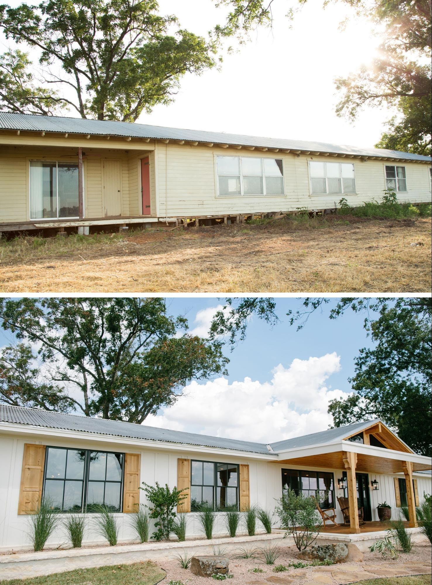 Fixer Upper House Exterior Home Exterior Makeover Mobile Home