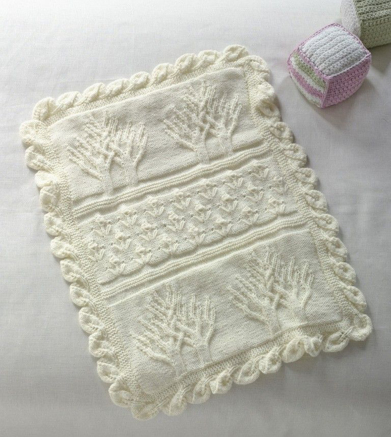 Baby Tree of Life Throw Pattern (Knit) | Projects to try | Pinterest ...