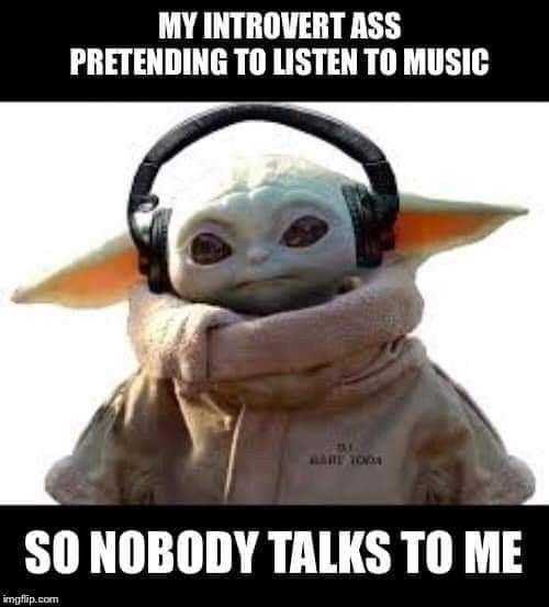 Pin By Desiree Thielen On Introverts Yoda Funny Yoda Meme Star Wars Memes