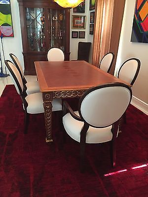 6 Leather Dining Room Chairs Bernhardt Baker Henredon Barbara Beauteous Henredon Dining Room Chairs Decorating Inspiration