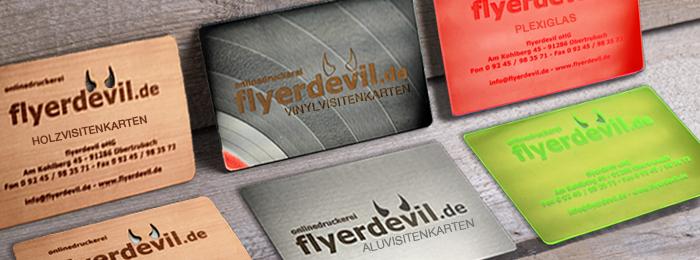 Visitenkarten Von Flyerdevil Aus Holz Alu Oder Plexiglas