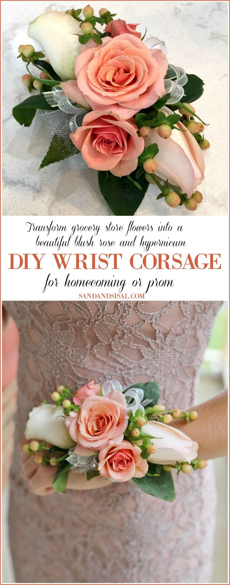 Diy wrist corsage for or prom