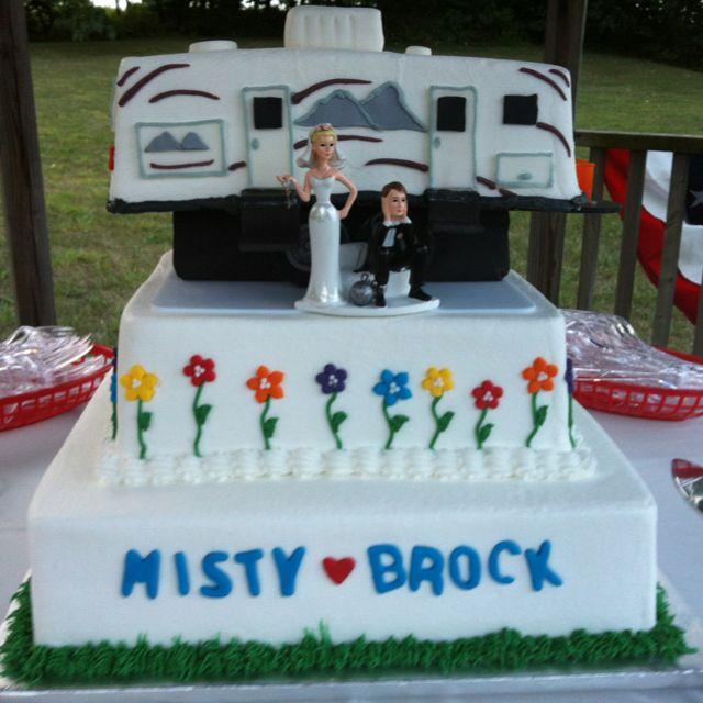 Camper wedding cake!