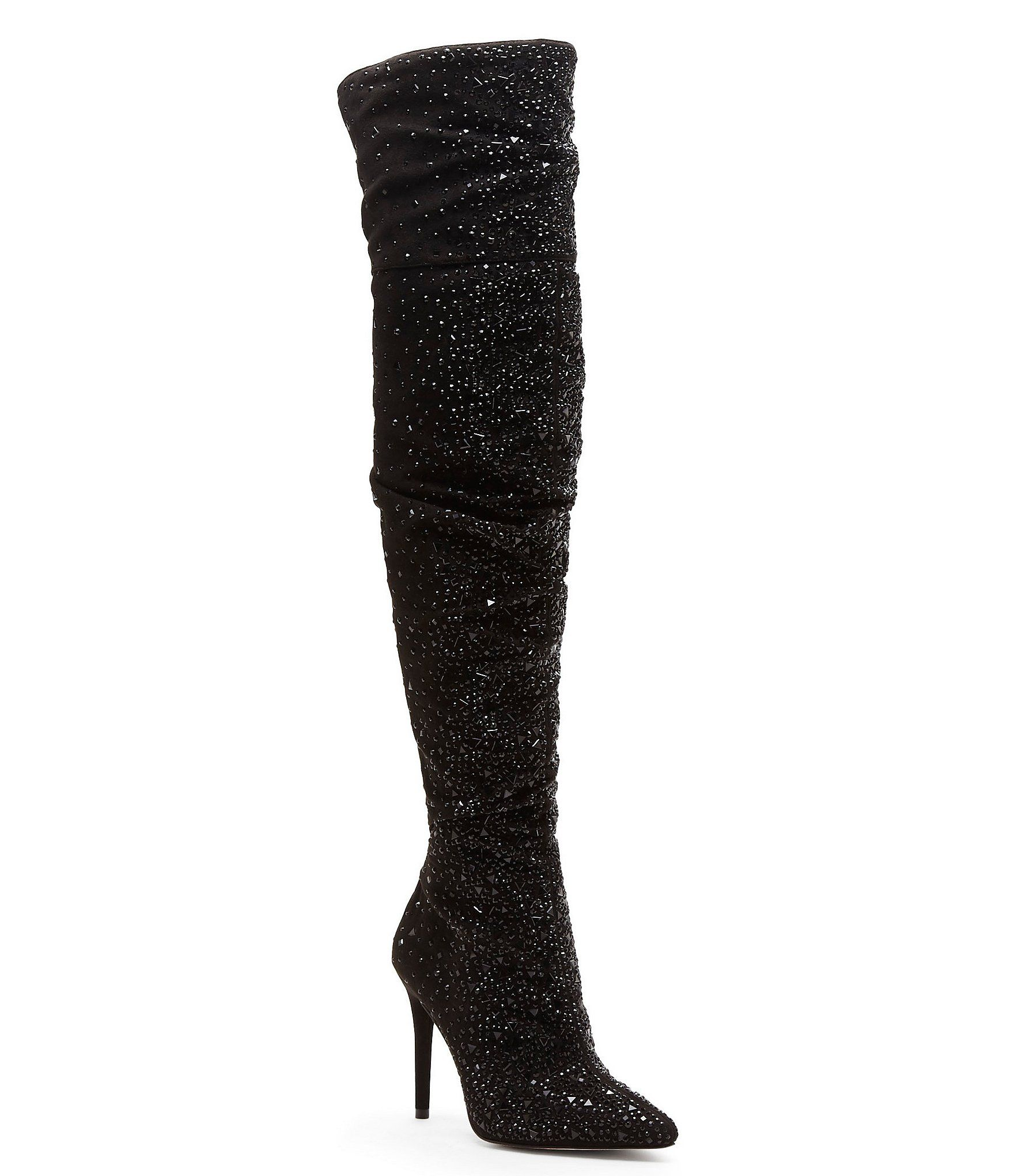 81887c5179 Shop for Jessica Simpson Luxella Hotfix Embellishment Over the Knee Boots  at Dillards.com. Visit Dillards.com to find clothing
