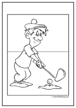 Golf Coloring Pages Customize And Print Pdf Sports Coloring Pages Coloring Pages Football Coloring Pages