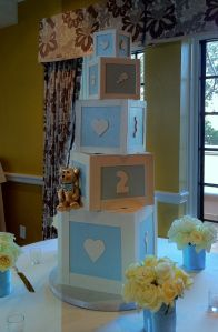 Giant Baby Blocks - wrap square boxes we have around the house