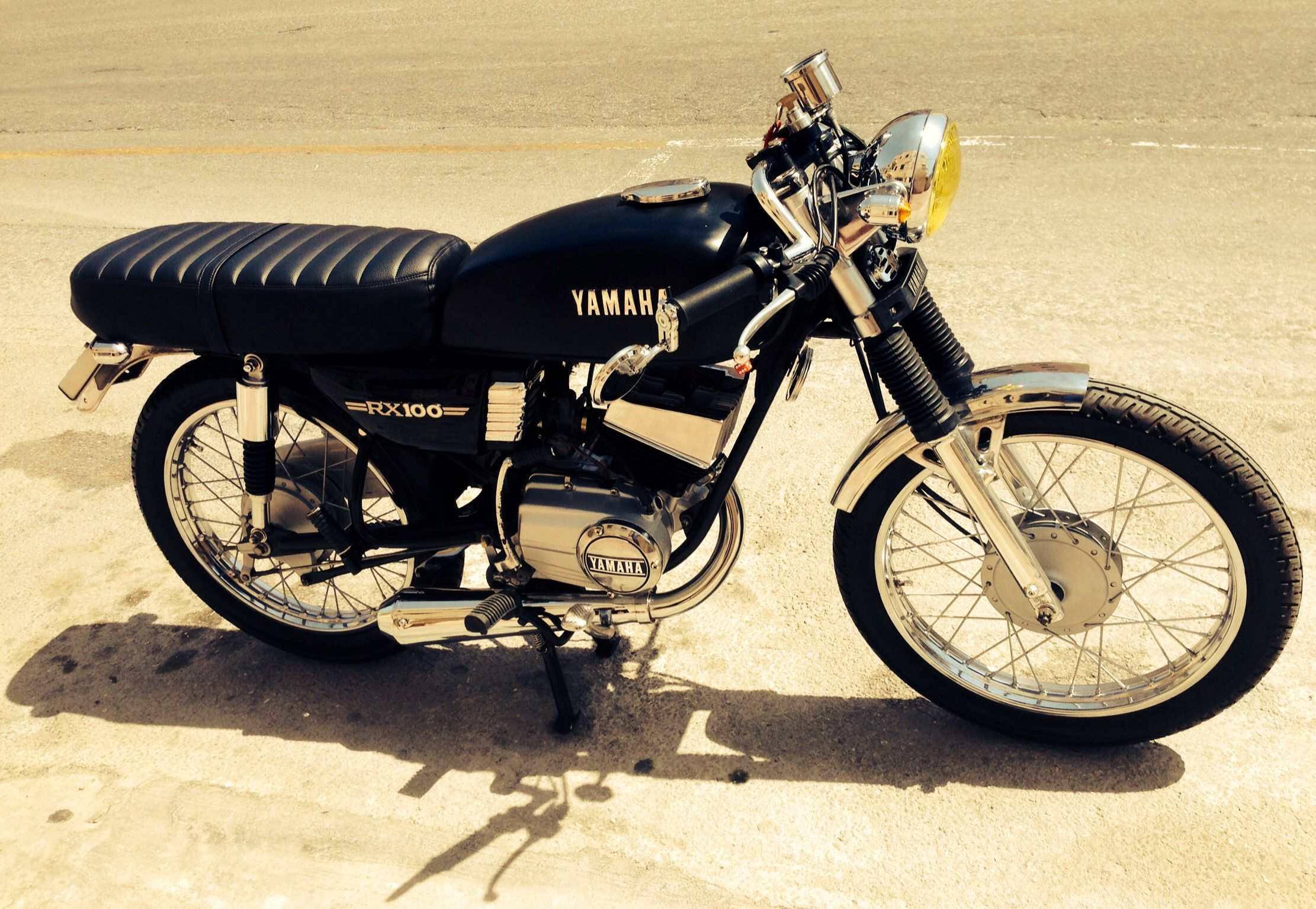 Yamaha RX100 cafe' racer | motorcycles,cafes and the rest