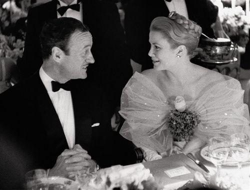 David Niven and Princess Grace, 1959. Photo by Edward Quinn ...