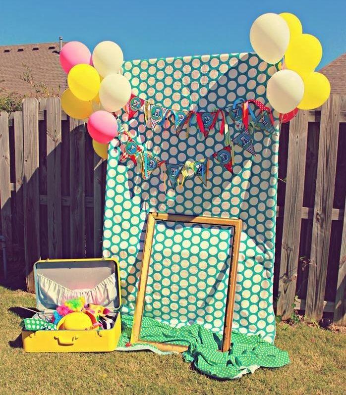 Cmo hacer un photocall para cumpleaos infantiles Photo booth