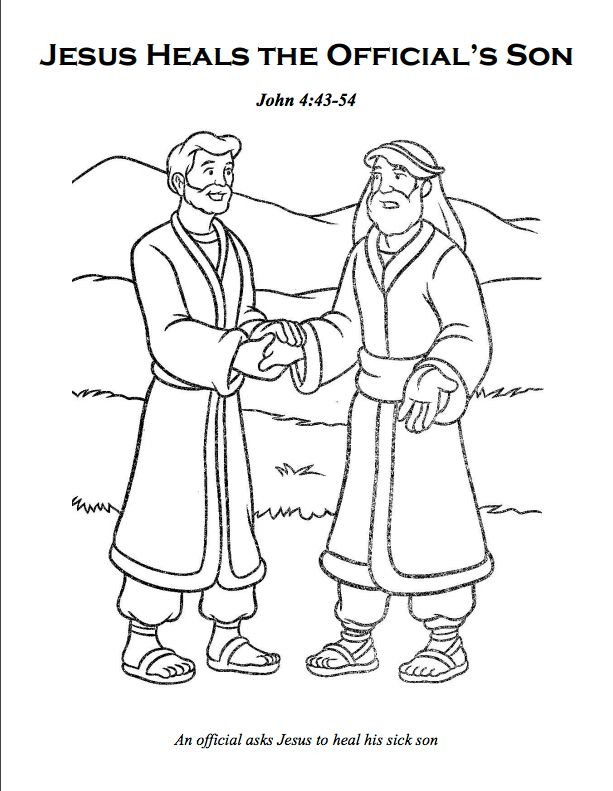 Sick Girl Who Healed By Miracles Of Jesus Coloring Page Miracles