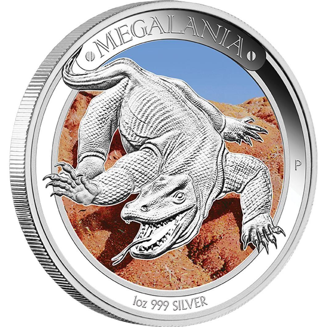 Megalania 1oz Silver Proof Coin Australian Megafauna