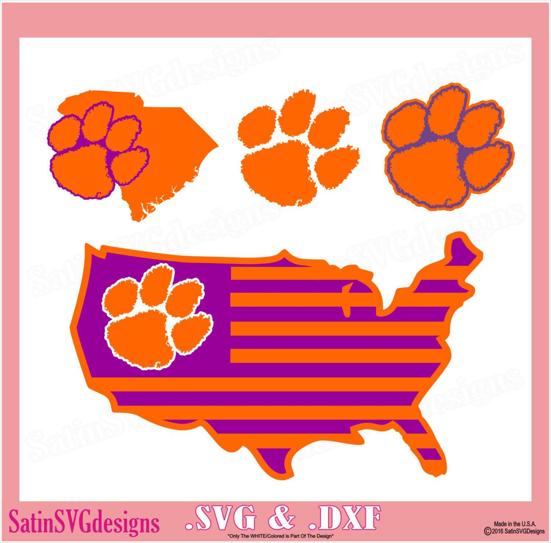 Clemson Tigers Design Kit Files Use Your Silhouette Studio