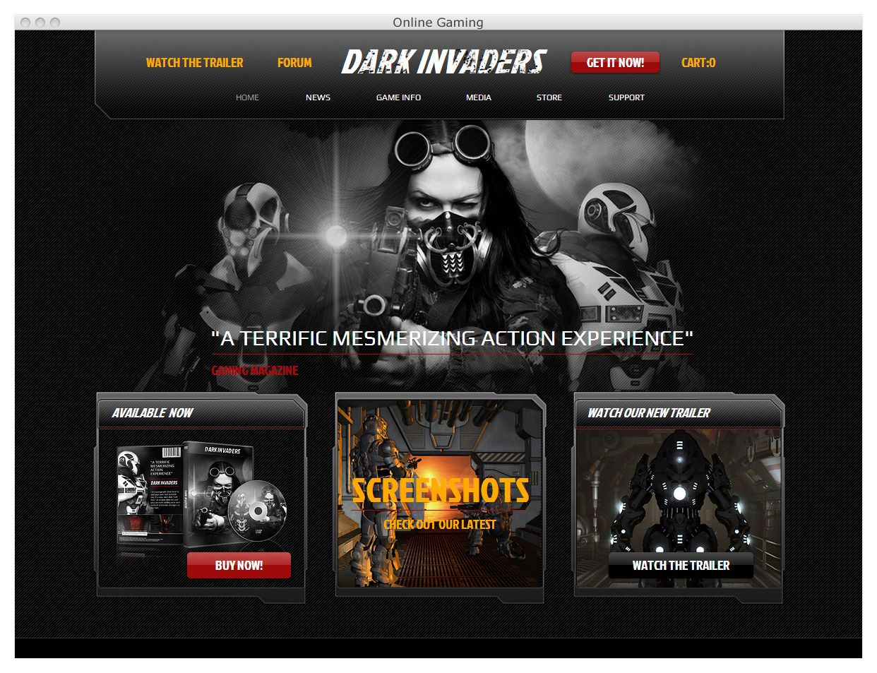 Get your game on with this awesome HTML5 website template. | Wix ...