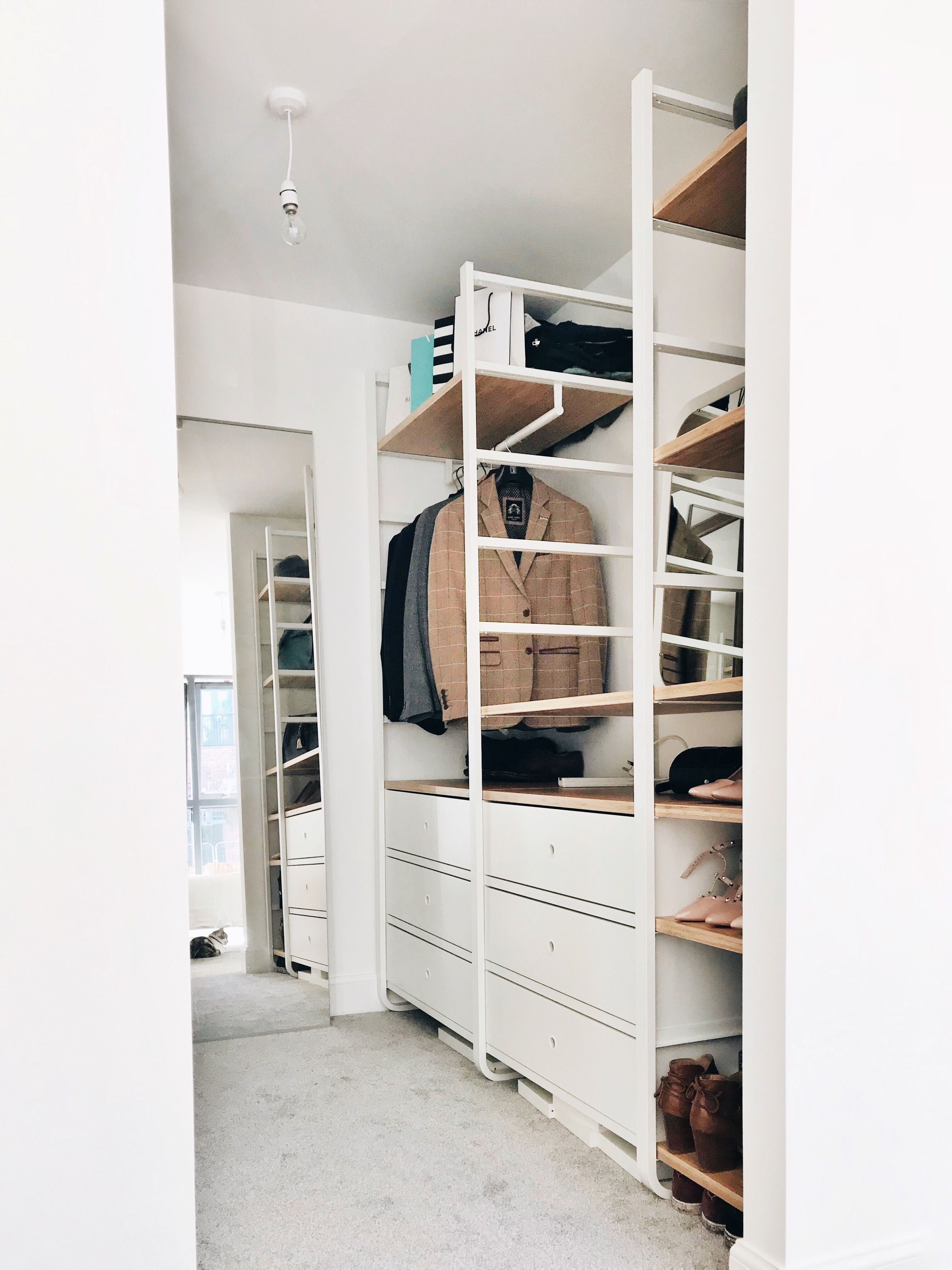 Ikea elvarli wardrobe our house in 2019 pinterest for Elvarli ikea hack