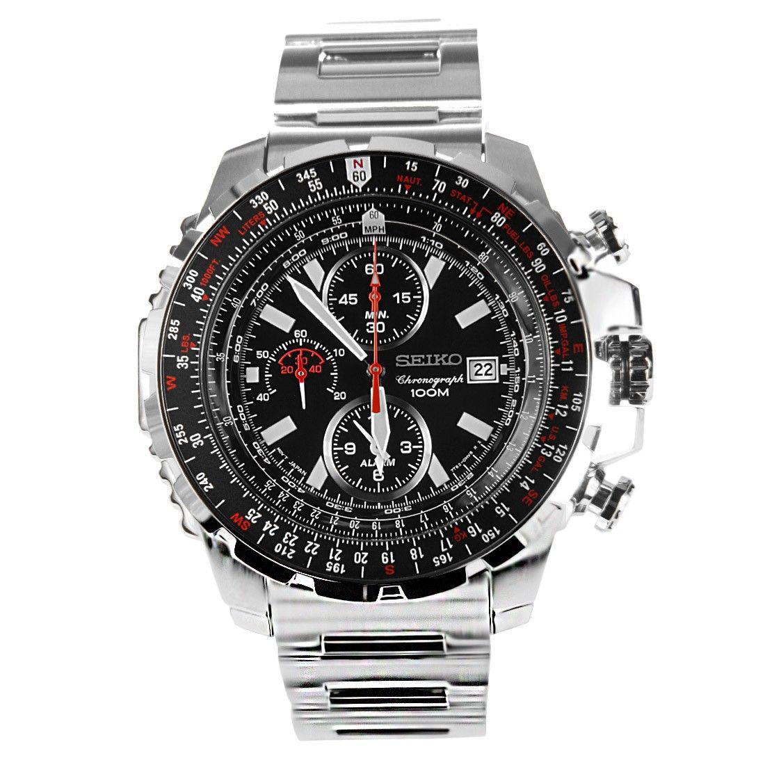SNAD05 Seiko Chronograph Pilot Flight Master Watch