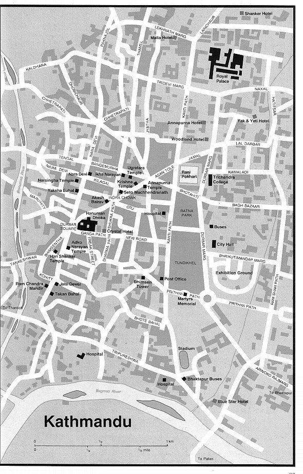 Kathmandu City Map