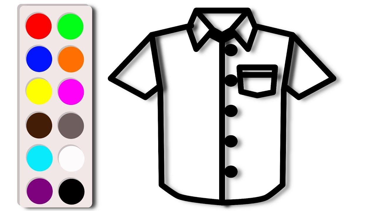 T shirt coloring pages for kids, Learn colors for childen | KidsTV ...