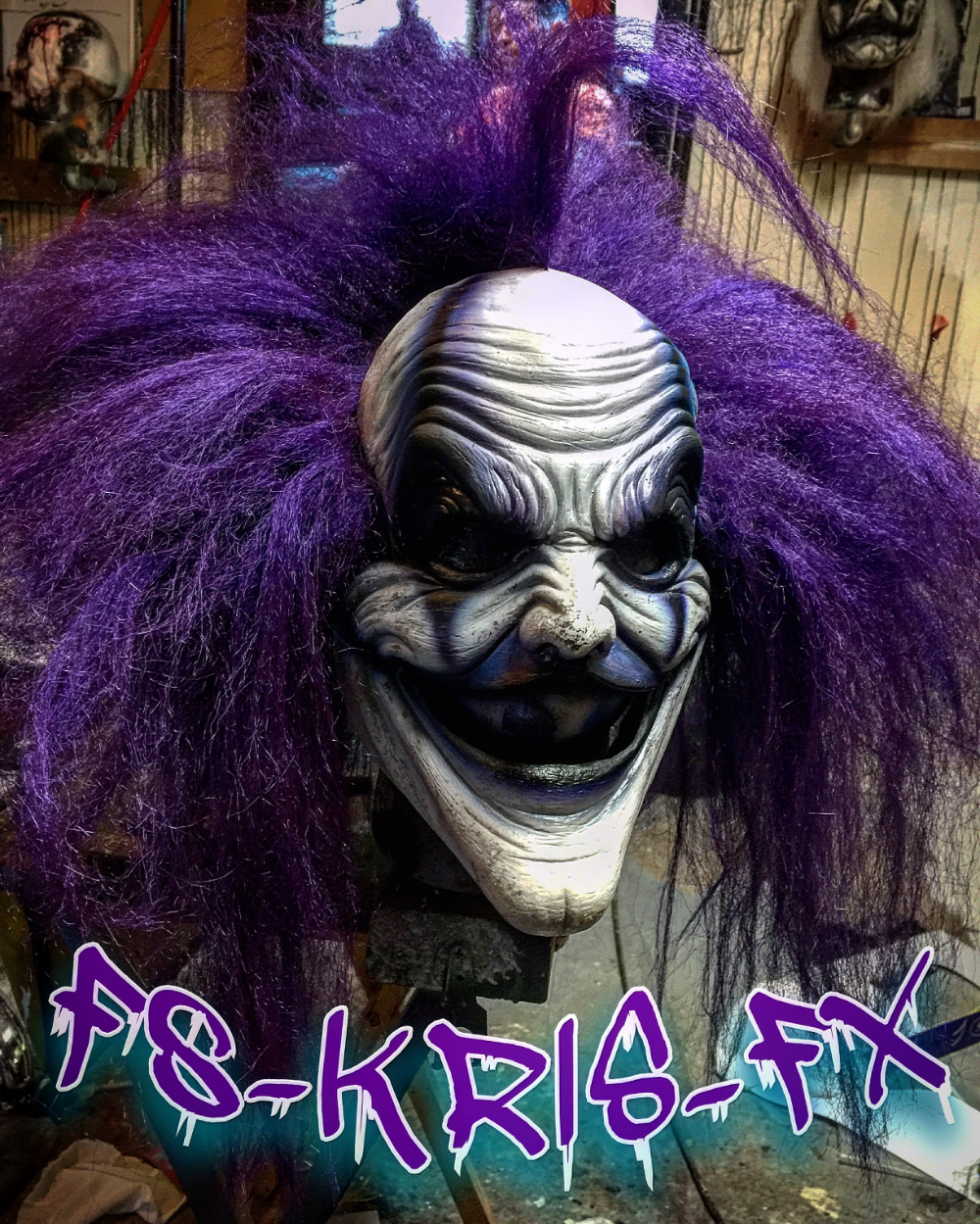 Jokes On You Clown Mask Clown mask, Jokes, Custom paint jobs