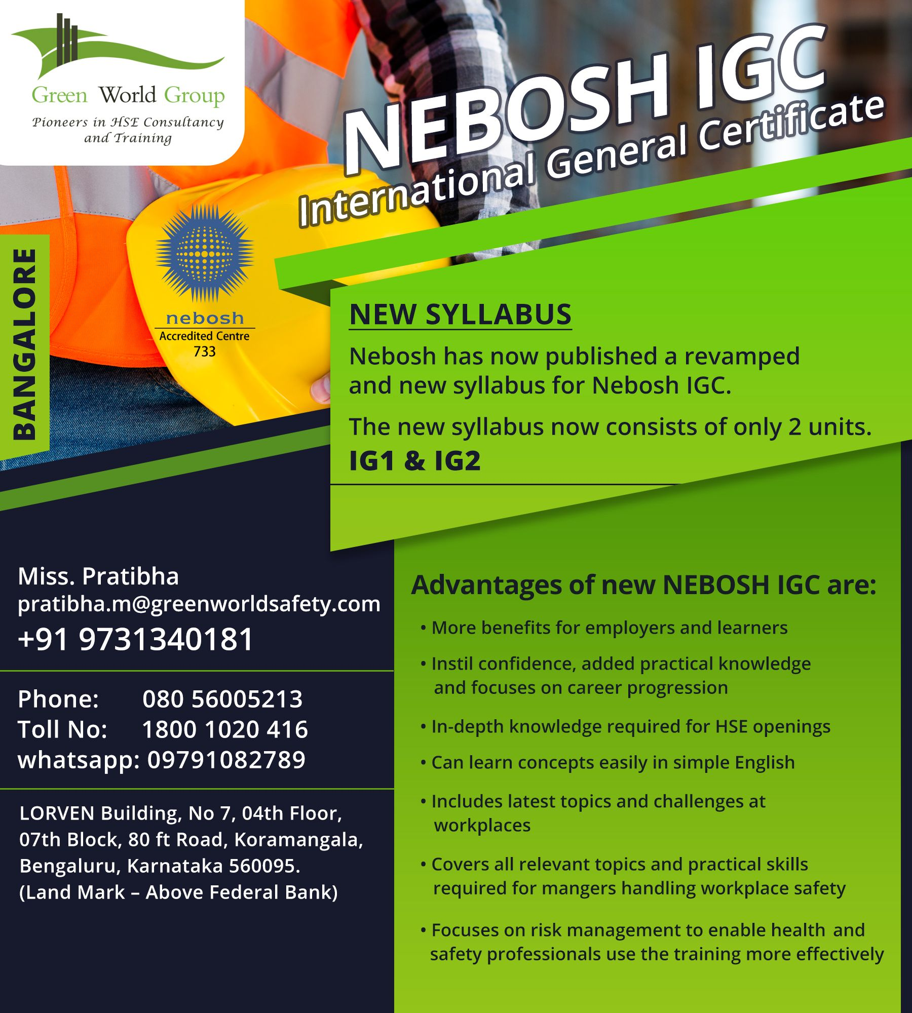 NEBOSH Safety Course in Bangalore Workplace safety and