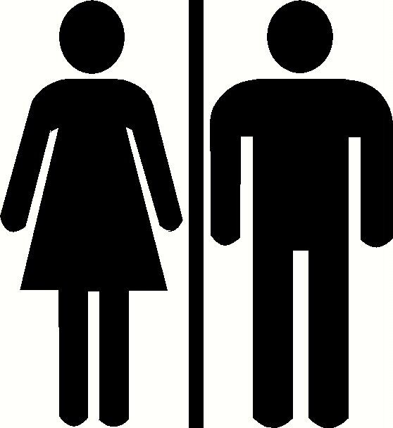 Unisex mens womens ladies restroom bathroom door sign by wvgraphx, $5.00