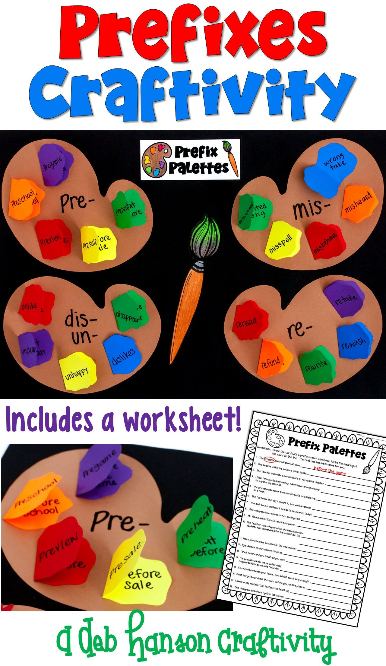 Prefixes Craftivity Included Two Versions For