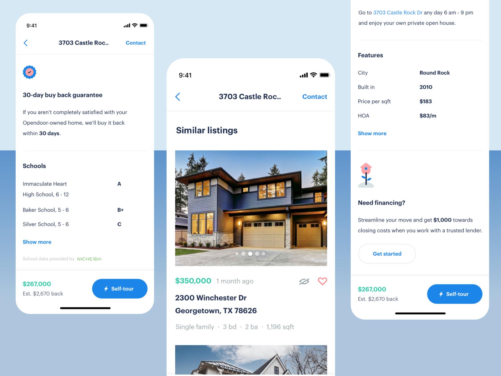 Property Detail Page Opendoor Mobile App Mobile App Inspiration Mobile App App