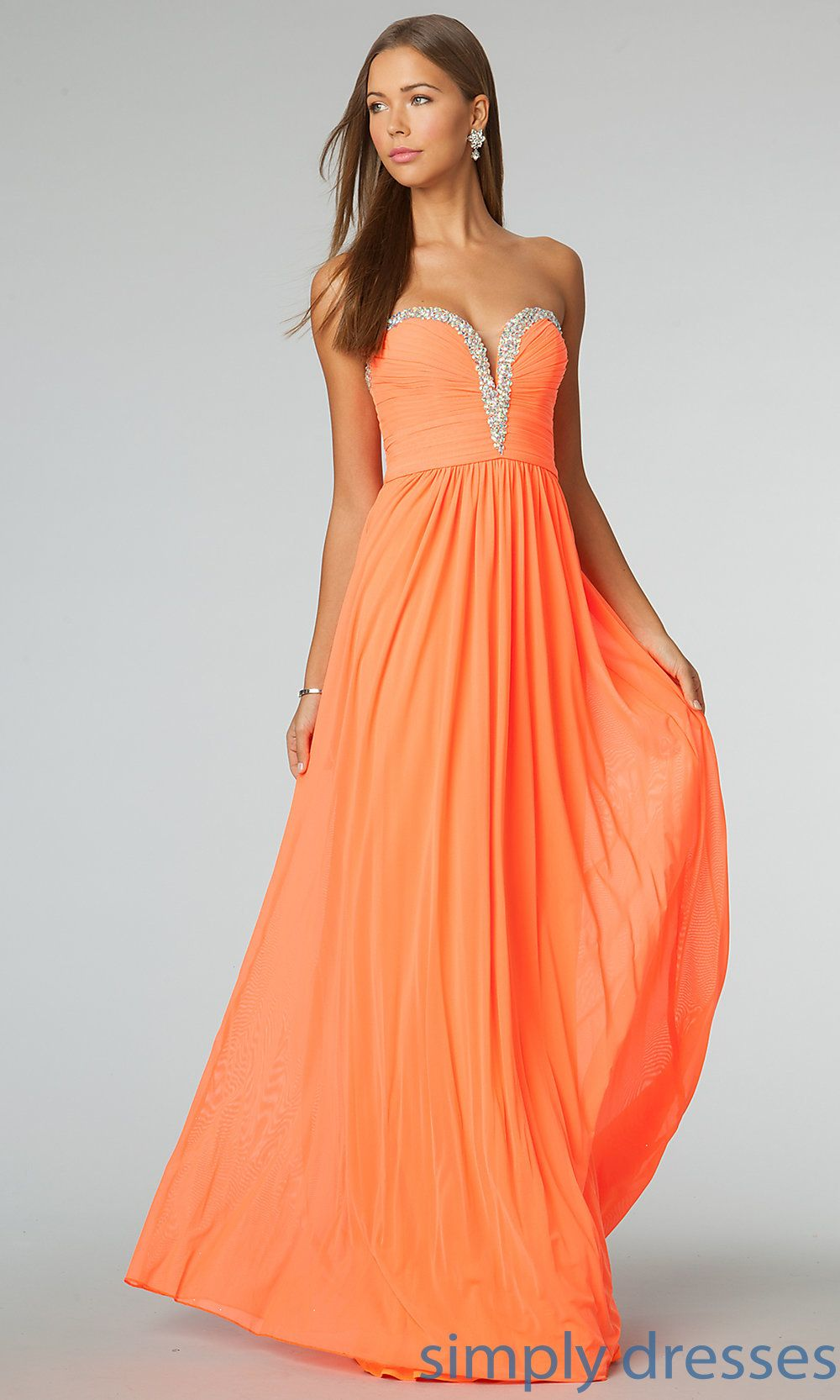 Orange Formal Dress Jovanni Bridesmaid Gown Revision Pinterest