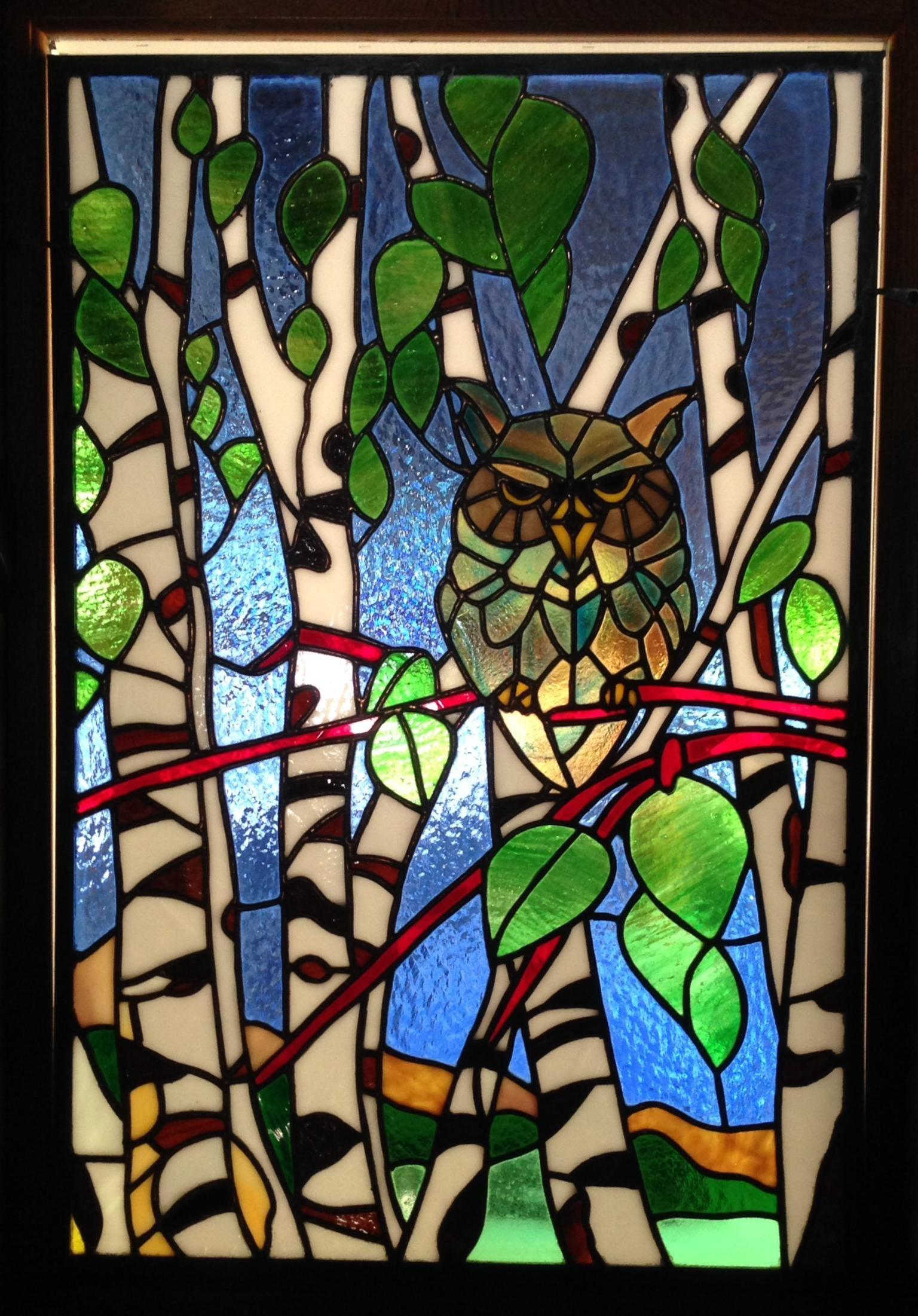 Owl In The Birch - from Delphi Artist Gallery