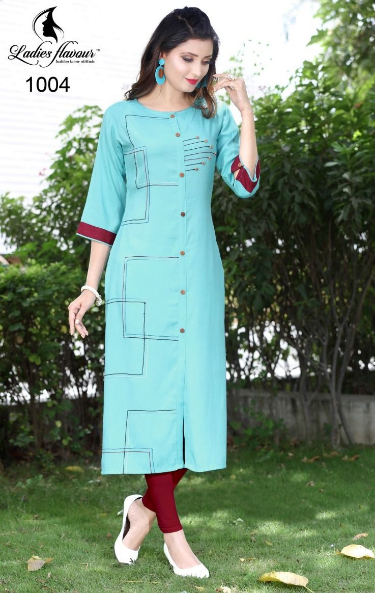 32499adb3c Ladies Flavour Naaz Vol-2 Namo Rayon Kurtis (7 pc catalog) | dress ...