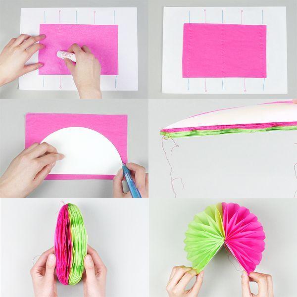 La f brica de secretos diy pompones con papel de seda - Como se hacen rosas de papel ...