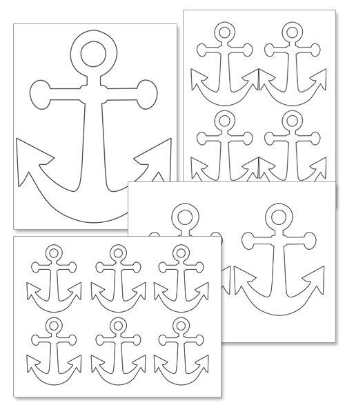 photograph relating to Printable Anchor Template identified as Printable Anchor Template - Printable Snacks: nautical