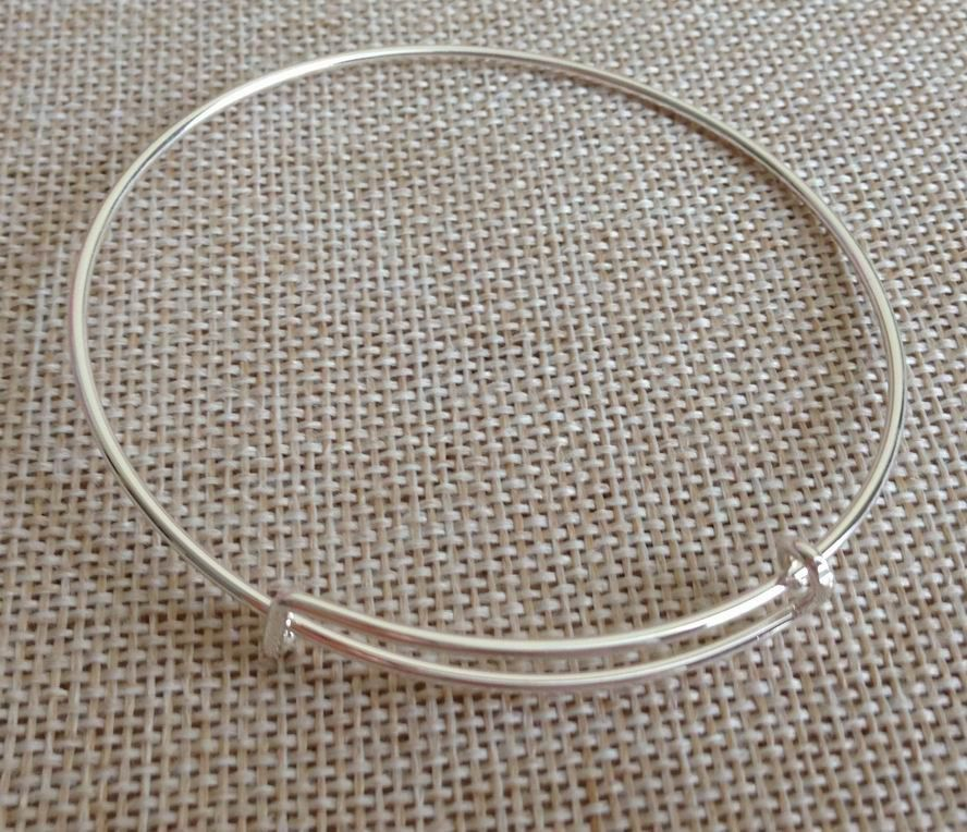 120pcs Wholesale Blank Expandable Bangle Jewelry Making
