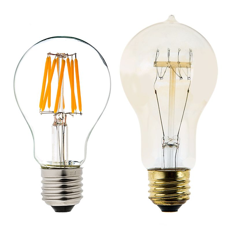 12v Low Wattage A19 Filament Led Light Bulb 40w Equivalent 490 Lumens Globe Bulbs Globe Bulb Vintage Light Bulbs