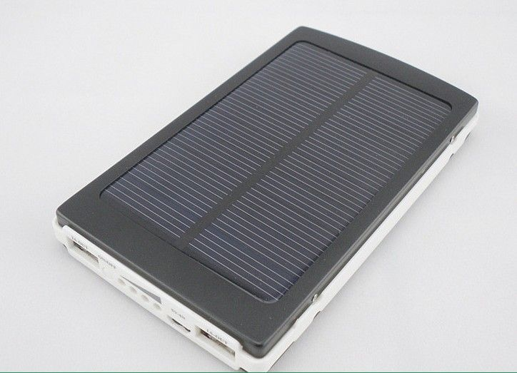 New Solar Charger Power Bank External Battery Portable Powerbank for iPhoneHTCPSP Smart Phone High Capacity