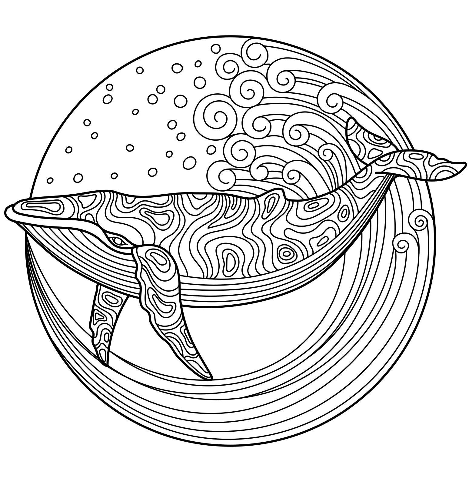 Whale To Color With Coloringbookforme Coloring Pages Animal