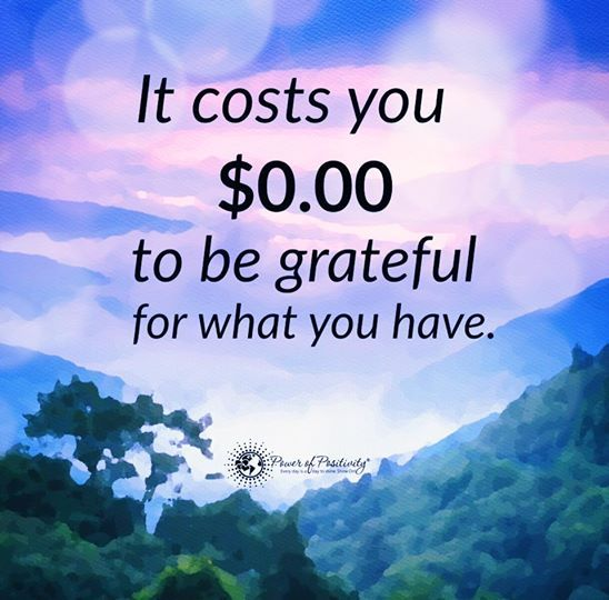 The cost of gratitude might be free, but it is priceless!