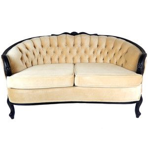 sale hollywood regency sofa couch loveseat tufted velvet couch black wood frame french velvet settee mid - Wood Frame Loveseat