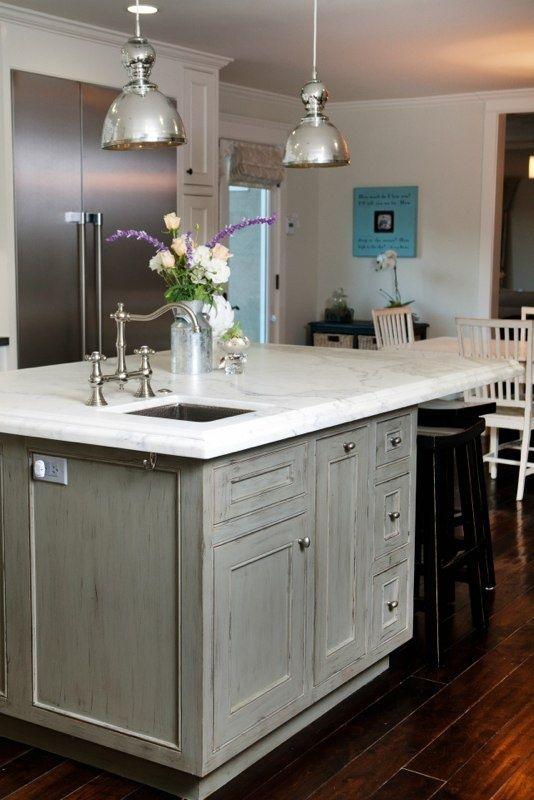 dream kitchen   Distressed kitchen cabinets, Home kitchens ...