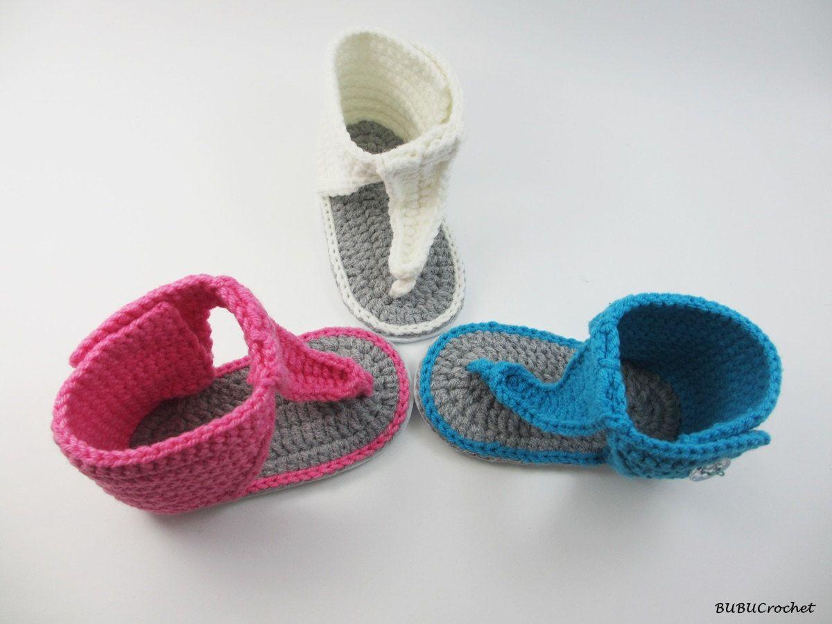 Crochet baby sandals, baby sandals, crochet baby shoes, crochet baby ...